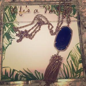 Navy blue Kendra Scott pendant